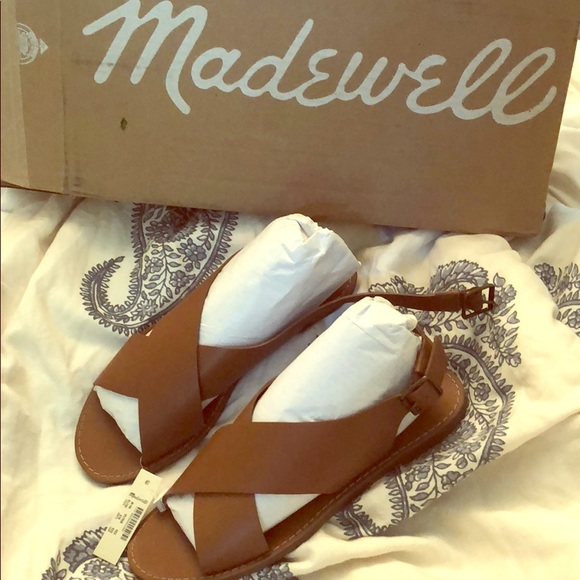 4318bc89dc3c Brand new Madewell Boardwalk Crossover Sandals 8.5